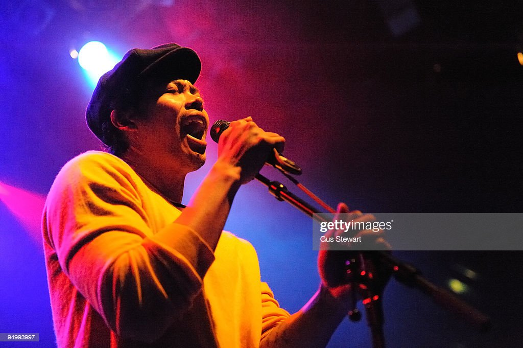 Dougy Mandagi of Temper Trap performs on stage at KOKO on December 21, 2009 in London, England.