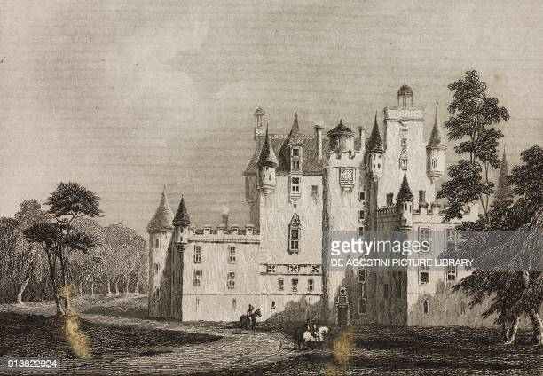 Doune Castle Scotland United Kingdom engraving by Skelton from Angleterre Ecosse et Irlande Volume IV by Leon Galibert and Clement Pelle L'Univers...