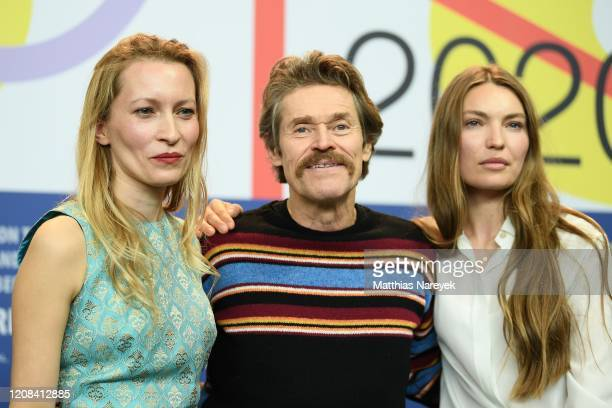 Dounia Sichov Cristina Chiriac and Willem Dafoe are seem at the Siberia press conference during the 70th Berlinale International Film Festival Berlin...