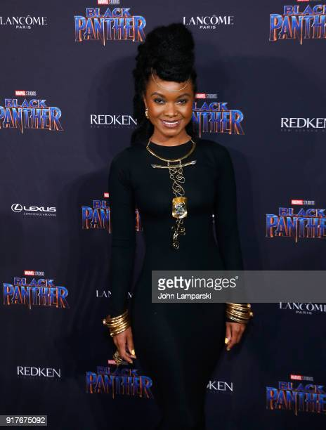 Douriean Fletcher attends Marvel Studios Presents Black Panther Welcome To Wakanda during February 2018 New York Fashion Week The Shows at Industria...