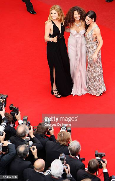 Doutzen Kroes Afef Jnifen and Evangeline Lilly attend the Vengeance Premiere at the Palais Des Festivals during the 62nd International Cannes Film...