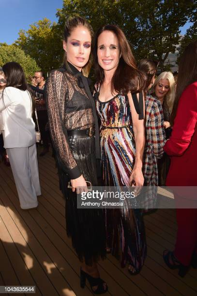 Doutzen Kroes and Andie MacDowell attend Le Defile L'Oreal Paris as part of Paris Fashion Week Womenswear Spring/Summer 2019 on September 30 2018 in...