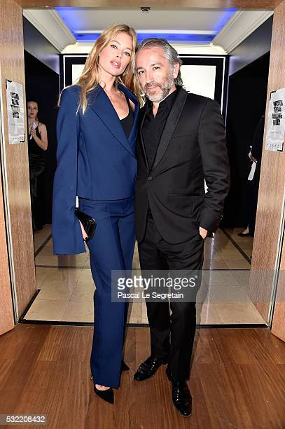 Doutzen Kroes and Cyril Chapuy attend the L'Oreal Paris Blue Obsession Party at the annual 69th Cannes Film Festival at Hotel Martinez on May 18 2016...