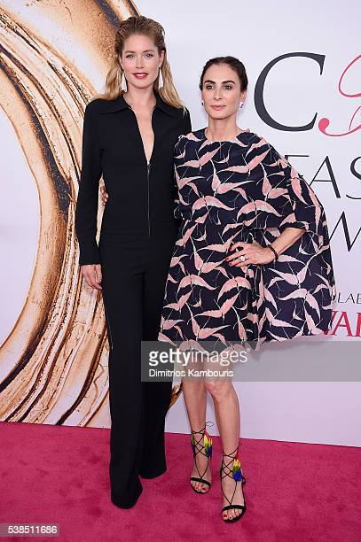 Doutzen Kroes and Francesca Amfitheatrof attend the 2016 CFDA Fashion Awards at the Hammerstein Ballroom on June 6, 2016 in New York City.