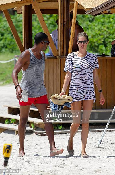 Doutzen Kroes and her husband DJ Sunnery James are seen on August 16 2012 in Miami Florida