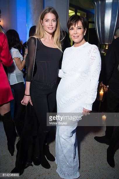 Doutzen Kroes and Kris Jenner attend the Editorialist Spring/Summer 2016 Issue Launch Party at the Hotel Peninsula as part of the Paris Fashion Week...
