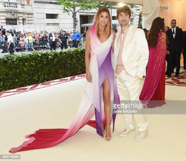 Doutzen Kroes and Sander Lak attend the Heavenly Bodies Fashion The Catholic Imagination Costume Institute Gala at The Metropolitan Museum of Art on...