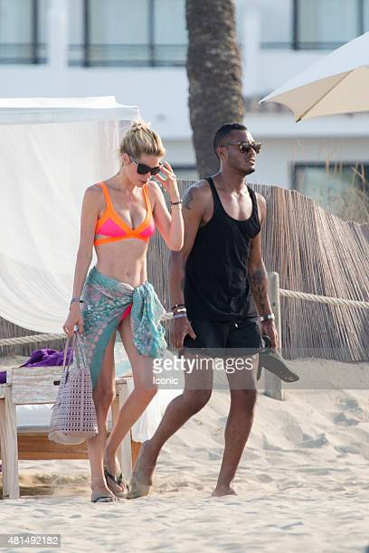 Doutzen Kroes and Sunnery James are seen on July 21 2015 in Ibiza Spain
