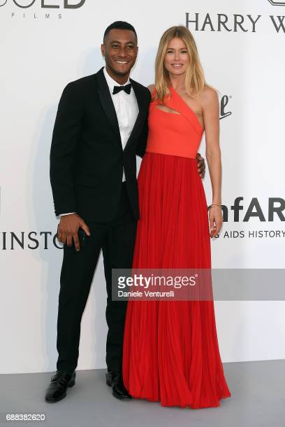 Doutzen Kroes and Sunnery James arrive at the amfAR Gala Cannes 2017 at Hotel du CapEdenRoc on May 25 2017 in Cap d'Antibes France