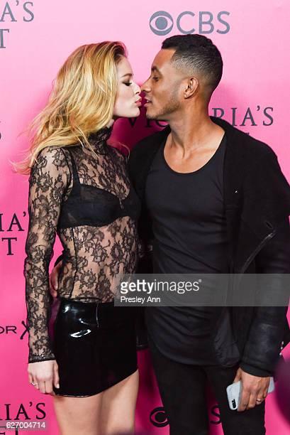Doutzen Kroes and Sunnery James arrives at 2016 VictoriaÕs Secret Fashion Show held at Le Grand Palais on November 30 2016 in Paris France
