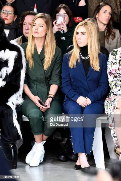 Doutzen Kroes and Zosia Mamet attend the Jason Wu front row during New York Fashion Week The Shows at Gallery I at Spring Studios on February 9 2018...