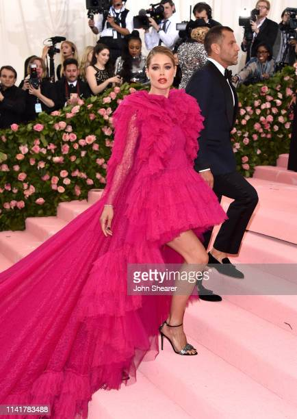 Doutzen Kroes arrives at the 2019 Met Gala Celebrating Camp Notes On Fashion at The Metropolitan Museum of Art on May 6 2019 in New York City