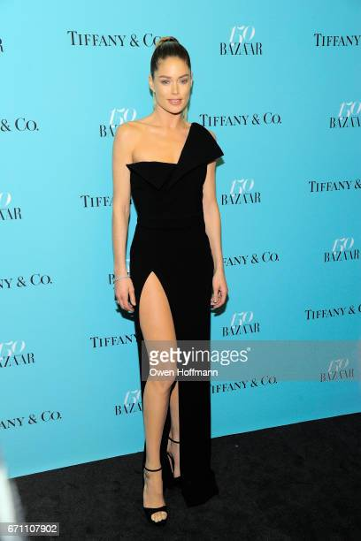 Doutzen Kroes attends Harper's Bazaar 150th Anniversary Party at The Rainbow Room on April 19 2017 in New York City