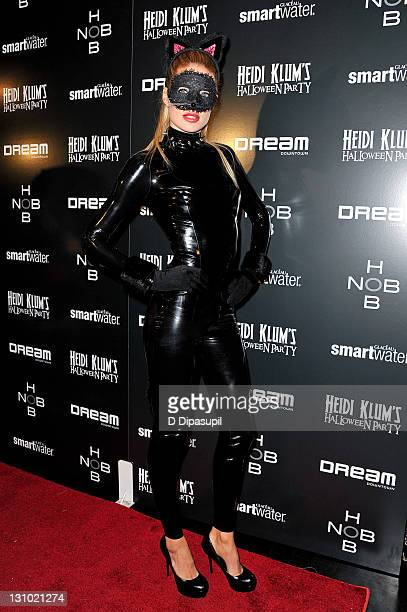 Doutzen Kroes attends Heidi Klum's 12th annual Halloween party at the PHD Rooftop Lounge at Dream Downtown on October 31 2011 in New York City