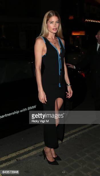 Doutzen Kroes attends LFW a/w 2017 London Fabulous Fund Fair at Roundhouse on Day 5 of London Fashion Week February 2017 on February 21 2017 in...