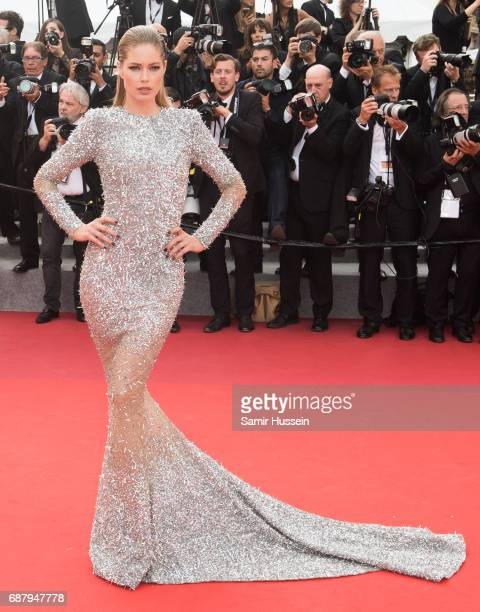 Doutzen Kroes attends the 70th Anniversary screening during the 70th annual Cannes Film Festival at Palais des Festivals on May 23 2017 in Cannes...
