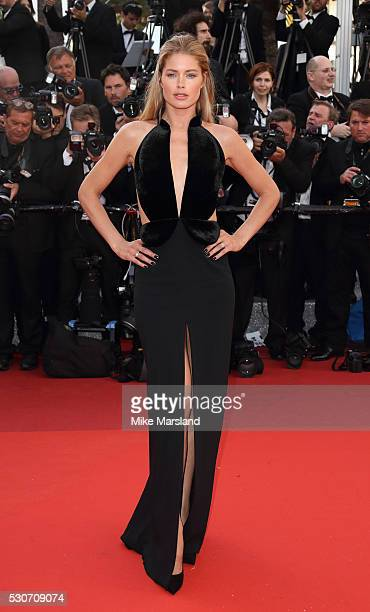 Doutzen Kroes attends the 'Cafe Society' premiere and the Opening Night Gala during the 69th annual Cannes Film Festival at the Palais des Festivals...
