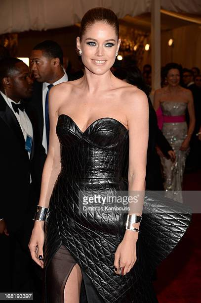 Doutzen Kroes attends the Costume Institute Gala for the PUNK Chaos to Couture exhibition at the Metropolitan Museum of Art on May 6 2013 in New York...