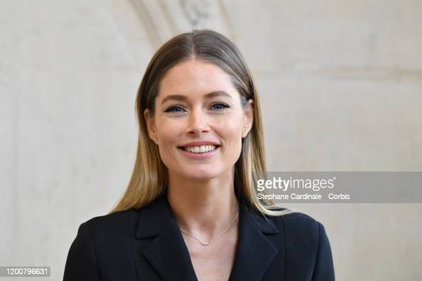 Doutzen Kroes attends the Dior Haute Couture Spring/Summer 2020 show as part of Paris Fashion Week on January 20 2020 in Paris France