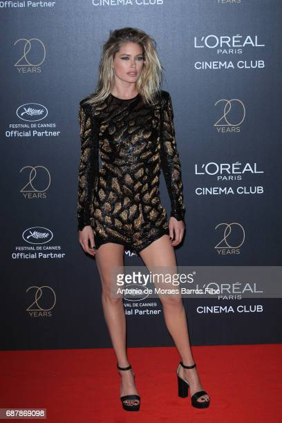 Doutzen Kroes attends the Gala 20th Birthday Of L'Oreal In Cannes during the 70th annual Cannes Film Festival at Hotel Martinez on May 24 2017 in...