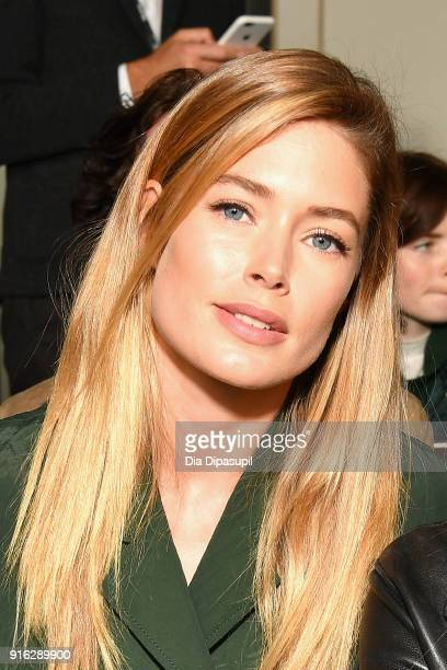 Doutzen Kroes attends the Jason Wu front row during New York Fashion Week The Shows at Gallery I at Spring Studios on February 9 2018 in New York City