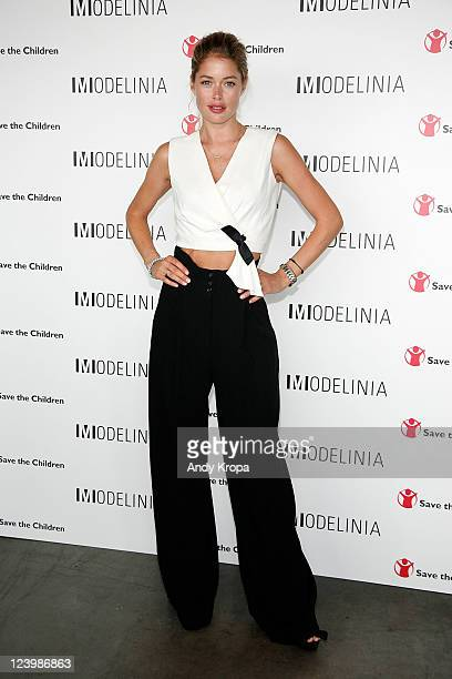 Doutzen Kroes attends the Modelinia Beautiful Friends Forever Bracelet launch at the Dream Hotel on September 7 2011 in New York City