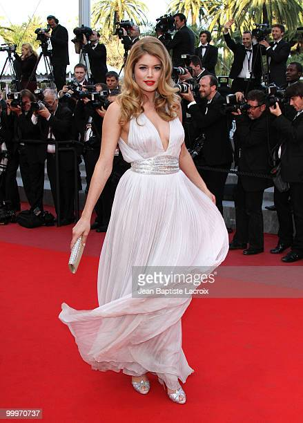 Doutzen Kroes attends the 'Of Gods and Men' Premiere held at the Palais des Festivals during the 63rd Annual International Cannes Film Festival on...