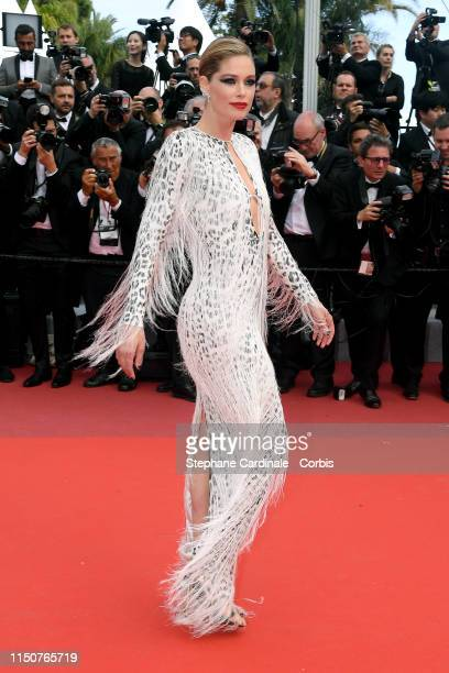 """Doutzen Kroes attends the screening of """"Once Upon A Time In Hollywood"""" during the 72nd annual Cannes Film Festival on May 21, 2019 in Cannes, France."""