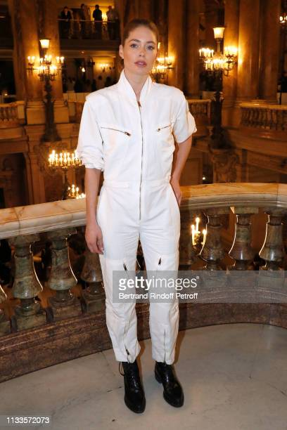Doutzen Kroes attends the Stella McCartney show as part of the Paris Fashion Week Womenswear Fall/Winter 2019/2020 on March 04 2019 in Paris France