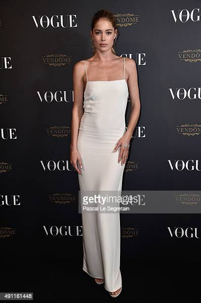 Doutzen Kroes attends the Vogue 95th Anniversary Party on October 3 2015 in Paris France