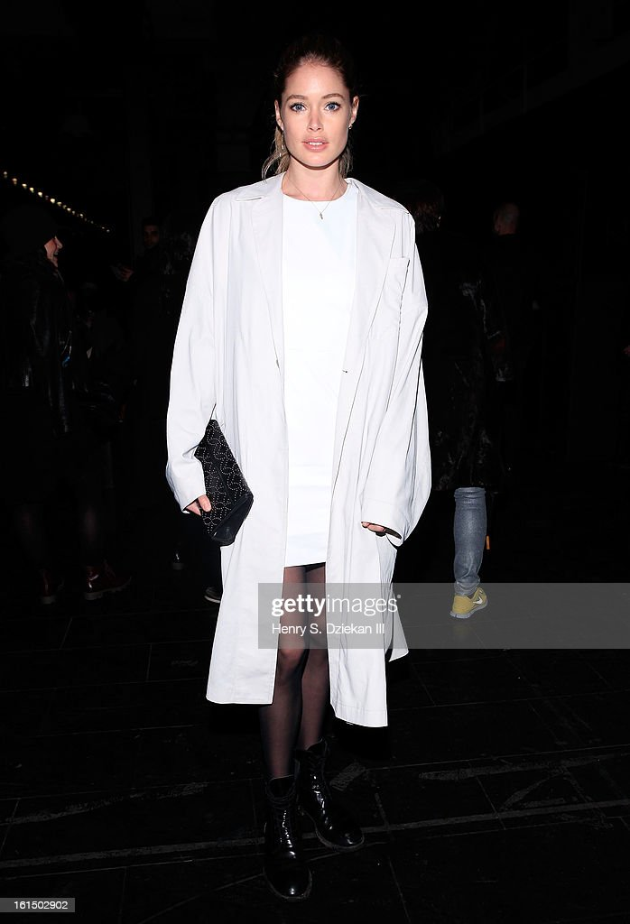 c208b99b3b Doutzen Kroes attends Theyskens' Theory during Fall 2013 Mercedes-Benz  Fashion Week at Skylight