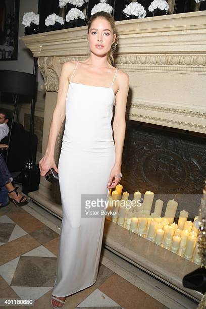Doutzen Kroes attends Vogue 95th Anniversary Party on October 3 2015 in Paris France