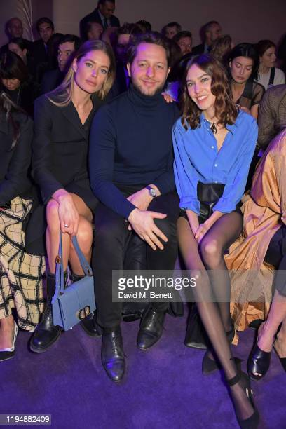 Doutzen Kroes Derek Blasberg and Alexa Chung attend the Dior Haute Couture Spring/Summer 2020 show as part of Paris Fashion Week at Musee Rodin on...