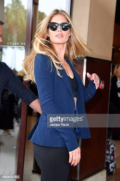 Doutzen Kroes is seen at Hotel Martinez during the annual 69th Cannes Film Festival at on May 11 2016 in Cannes France