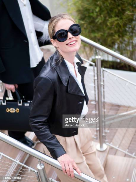 Doutzen Kroes is seen at the Martinez hotel during the 72nd annual Cannes Film Festival on May 21 2019 in Cannes France