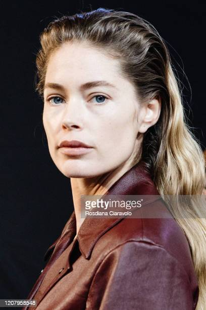 Doutzen Kroes is seen backstage at the Salvatore Ferragamo fashion show on February 22 2020 in Milan Italy