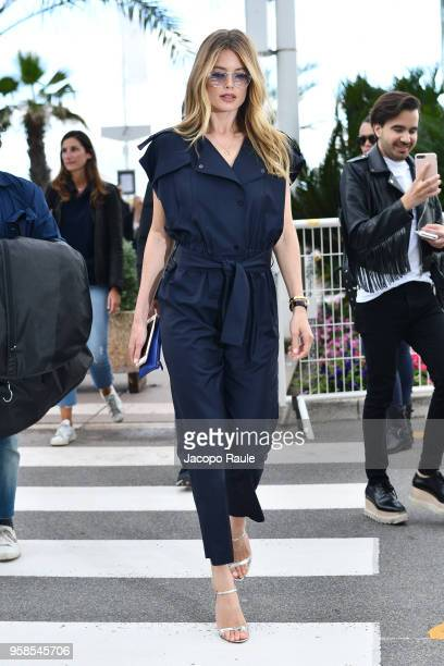 Doutzen Kroes is seen during the 71st annual Cannes Film Festival at on May 14 2018 in Cannes France