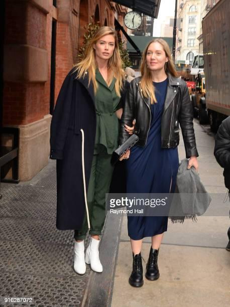 Doutzen Kroes is seen in soho on February 9 2018 in New York City