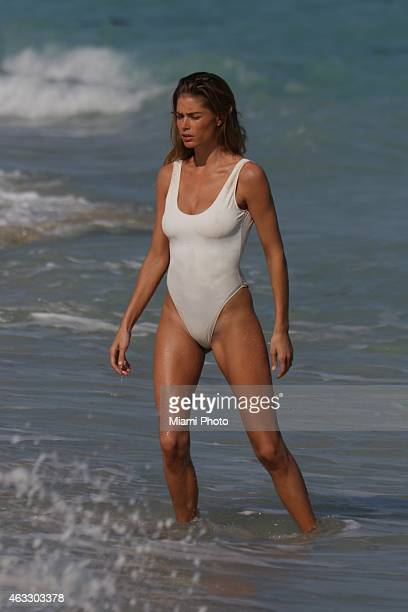 Doutzen Kroes is sighted on February 12 2015 in Miami Florida