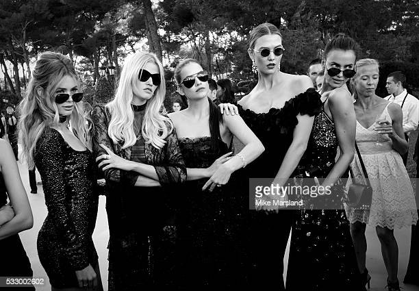Doutzen Kroes Lara Stone Barbara Palvin Karlie Kloss and Irina Shayk attend the amfAR's 23rd Cinema Against AIDS Gala at Hotel du CapEdenRoc on May...