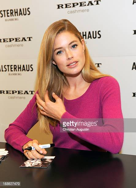 Doutzen Kroes launches 'Repeat by Doutzen' Fashion Collection at Alsterhaus on October 6 2012 in Hamburg Germany