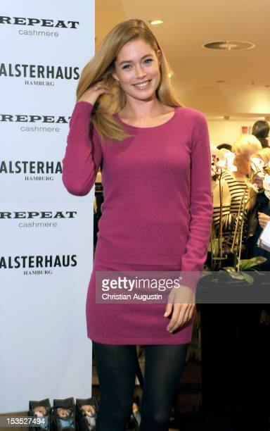 Doutzen Kroes launches Repeat by Doutzen Fashion Collection at Alsterhaus on October 6 2012 in Hamburg Germany
