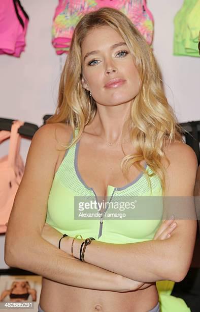 Doutzen Kroes launches VS Sport at Victoria's Secret Lincoln Road Miami Beach store on January 14 2014 in Miami Beach Florida