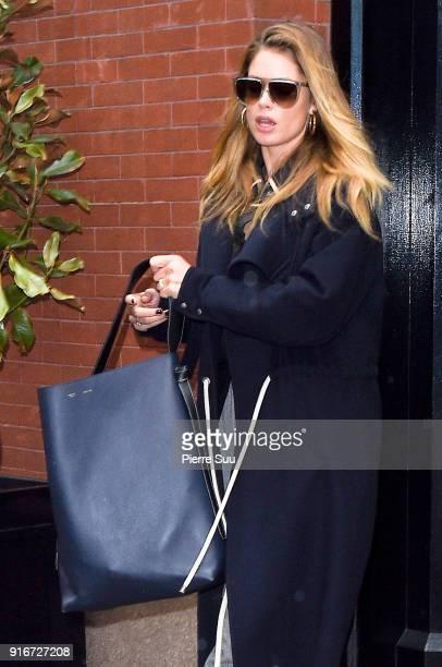 Doutzen Kroes leaves her hotel on February 10 2018 in New York City