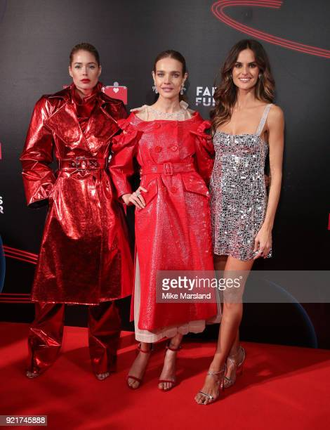 Doutzen Kroes Natalia Vodianova and Izabel Goulart attend the Naked Heart Foundation's Fabulous Fund Fair during London Fashion Week February 2018 at...