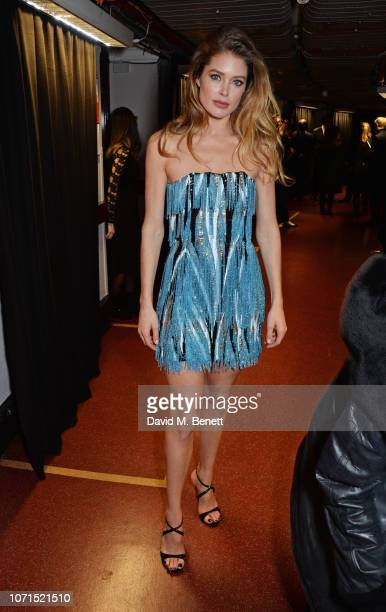 Doutzen Kroes poses backstage at The Fashion Awards 2018 in partnership with Swarovski at the Royal Albert Hall on December 10 2018 in London England