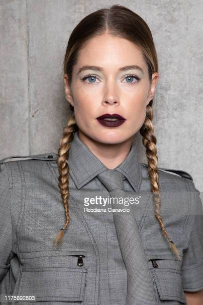 Doutzen Kroes poses during the backstage for Max Mara fashion show during the Milan Fashion Week Spring/Summer 2020 on September 19 2019 in Milan...