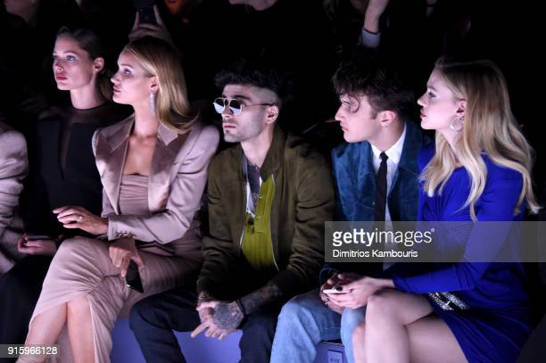 Doutzen Kroes Rosie HuntingtonWhiteley Zayn Malik Anwar Hadid and Nicola Peltz attend the Tom Ford Fall/Winter 2018 Women's Runway Show at the Park...
