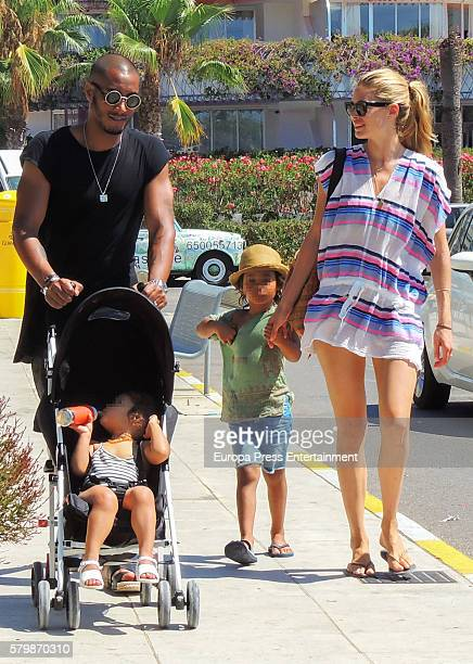 Doutzen Kroes Sunnery James and their children are seen on July 24 2016 in Ibiza Spain