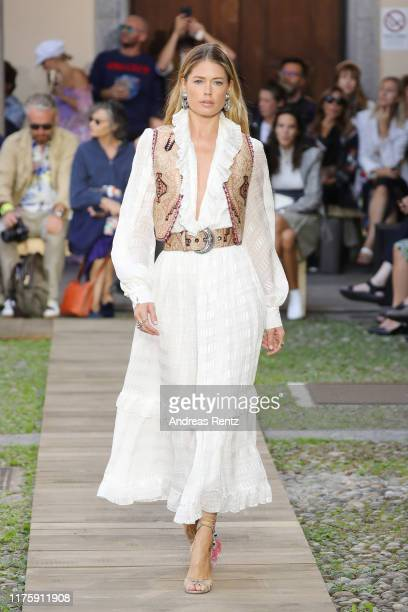 Doutzen Kroes walks the runway at the Etro show during the Milan Fashion Week Spring/Summer 2020 on September 20 2019 in Milan Italy